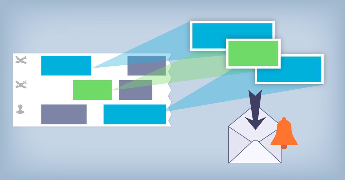 Alertes e-mail en fonction de l'activité réservée