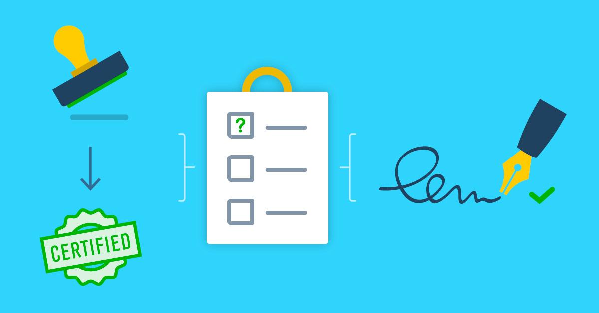 Certification des validités et validités-contrats